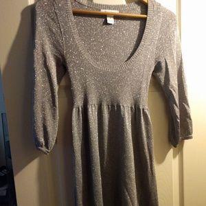 Silver metallic White House Black Market dress